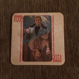 Vintage Germany R6 cigarettes tobacco coaster