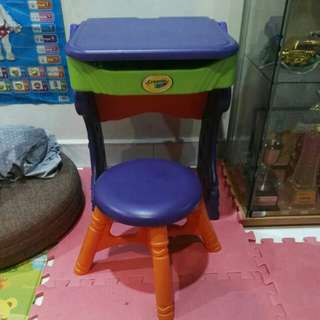 Crayola first drawing board, table and chair