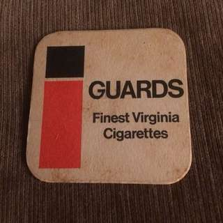Vintage Guards Virginia USA cigarettes tobacco coaster