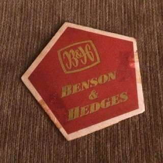 Vintage Benson & Hedges cigarettes tobacco coaster