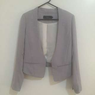 Cropped Blazer (Lavender / Light Purple)
