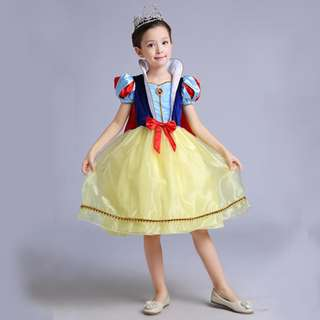 Girl Princess Snow White Halloween Cosplay Fancy Dress Beauty Xmas Costume