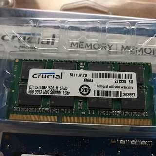 Laptop Ram Sodimm Crucial 8Gb