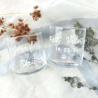 Valentine's Gift - Personalized Glass / Candle Holder / Home Decor