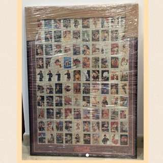 Coca Cola poster in  jigsaw puzzle with frame