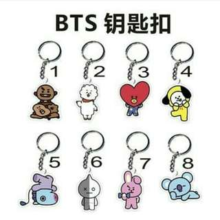BTS BT21 Keychain & I-Ring