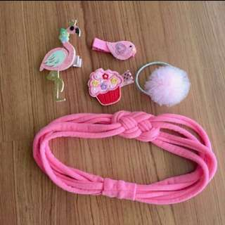 New baby girl pink hair accessories