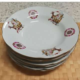 Vintage Chinese 寿 Plate (7pcs/ pack)