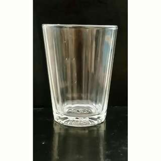 Paneled small glass for mixed drinks, espresso shots, dessert samples