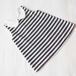 Monochrome Striped Dress (Free Headband or Hairclip)