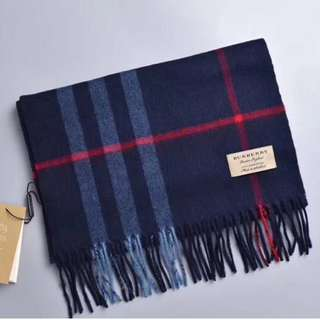 Burberry Baggy Cashmere Wool Bag Blue