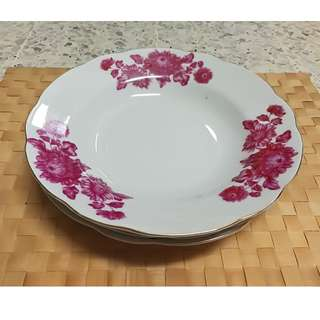 Vintage Chinese Floral Plaate (3pcs/ Pack)