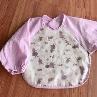New baby girl purple bib