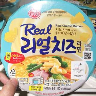 🇰🇷不倒翁Real Cheese 雙重芝士杯麵 120g