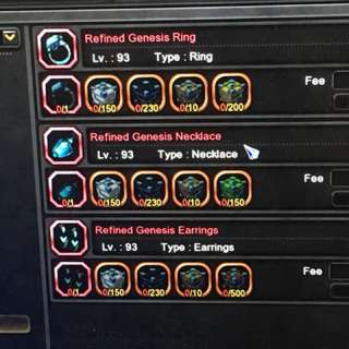 S>dragon nest sea refined genesis set