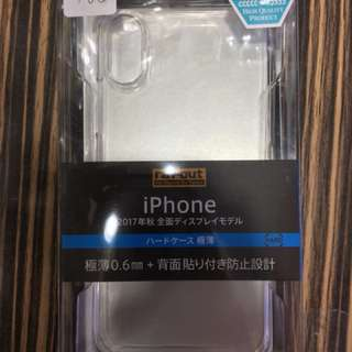 apple iphone X 保護case 硬 極薄0.6mm 透明  #3 日本直送 新品