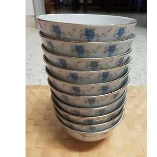 Vintage Chinese Floral Bowl (10pcs/ pack)
