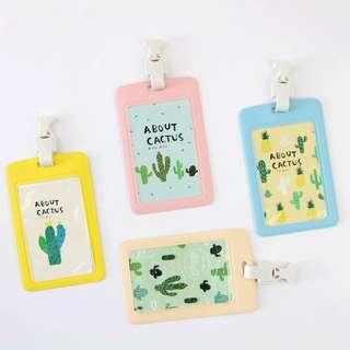[NEW] About Cactus Leather Badge Holder