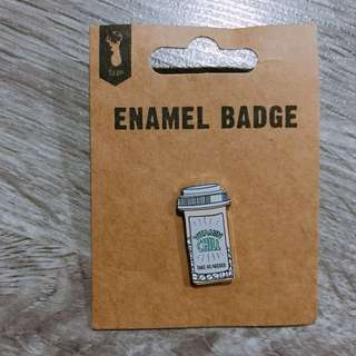 Typo enamel badges