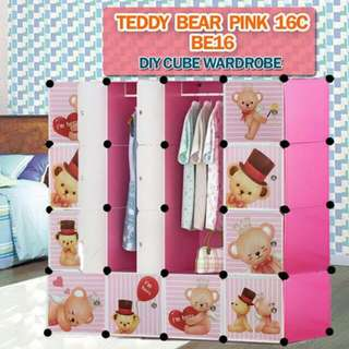 16 CUBE TEDDY BEAR DIY WARDROBE