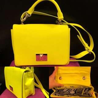 Pucci sharp yellow green crossbody bag