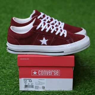 CONVERSE ONE STAR OX SUEDE PORTROYAL PREMIUM BNIB MADE IN VIETNAM BAHAN FULL SUEDE, RUBBER SOLE 40/41/42/43/44