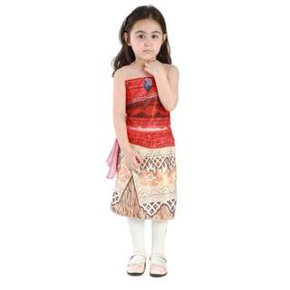 MLL Moana Princess Adventure Costume Dress Set Girls Cosplay Costume