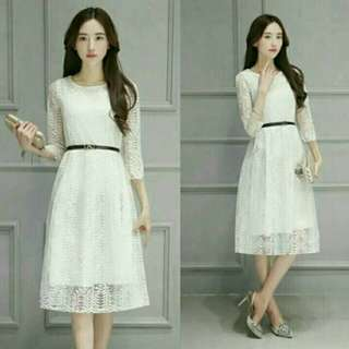 Dress Premium Jolly White