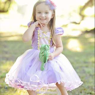 Repunzel Baby dress costume princess Repunzel dress for toddlers and girls 1-5y