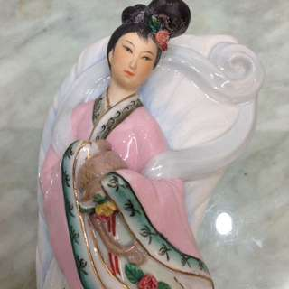 Porcelain-潮州仙女壁掛20cm