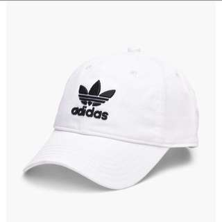Adidas Original caps 愛迪達 三葉草 老帽 黑 白 正版公司貨