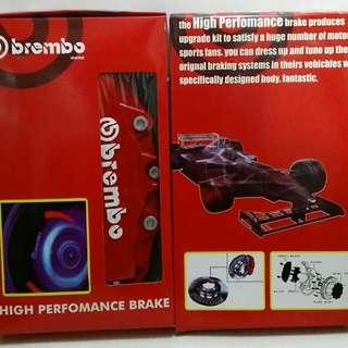 Cover Disk Brake Brembo 6 Pot Emboss Putih JAZZ AVANZA XENIA TERIOS BRIO DLL