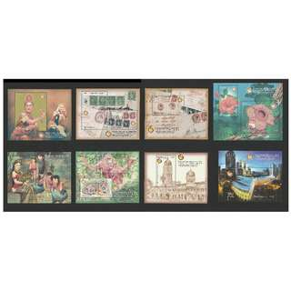 Malaysia - World Youth & 29th Asian International Stamp Exhibition 2014 (1st & 2nd Issue) - Complete Set of 8 Miniature Sheets SG #MS2044-2051 CV £51