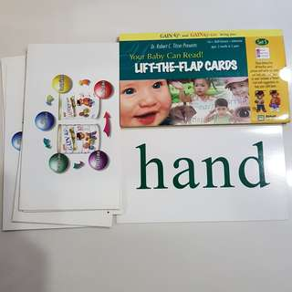 BN Your baby Can read lift the flap cards (3months -5years) Dr Robert C Titzer