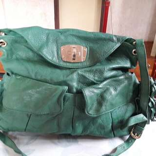 BRERA Green Leather Two Way Shoulder Crossbody Bag