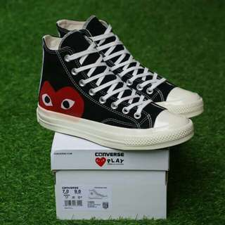 """CONVERSE 70S HIGH PLAY CDG """"COMME DES GARCONS"""" PREMIUM BNIB MADE IN VIETNAM BAHAN CANVAS PRINT, RUBBER SOLE SIZE:37/38/39/40/41/42/43/44"""