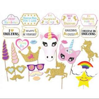 26 pcs unicorn photo prop