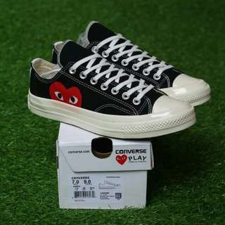 "CONVERSE 70S LOW PLAY CDG ""COMME DES GARCONS"" PREMIUM BNIB MADE IN VIETNAM BAHAN CANVAS PRINT, RUBBER SOLE SIZE:37/38/39/40/41/42/43/44"