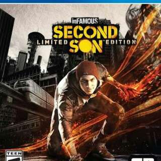 For sale bundle: infamous second son and first light ps4 games