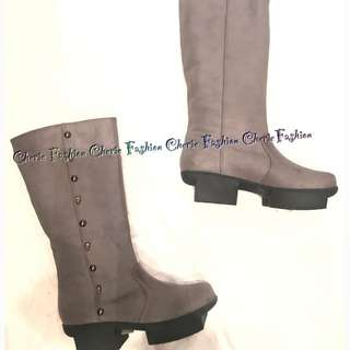 日本真皮中筒boots