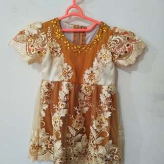 Dress yellow manik