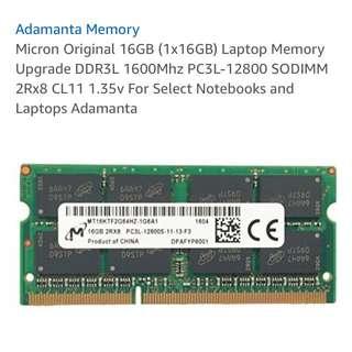 Laptop 16gb 12800s PC3L