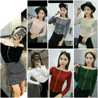 Top Knitted Long Sleeve