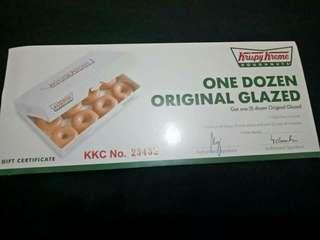 Krispy cream 1dozen (orig glaze only)