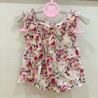Zara baby girl 9-12m flora top