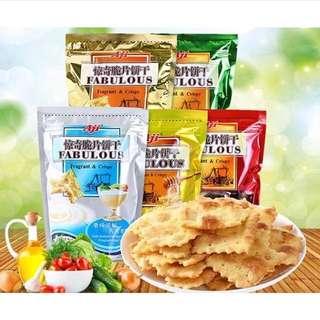 AJI尼西亞驚奇餅乾  泡菜/優格洋蔥/蔬菜/起士/蜂蜜牛油 200g