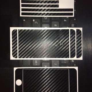 iPhone 5, 5s, SE Carbon Fiber Sticker Skin