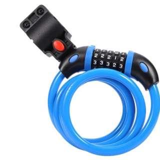 Anti Theft Bicycle 5 Number Lock Blue #OK