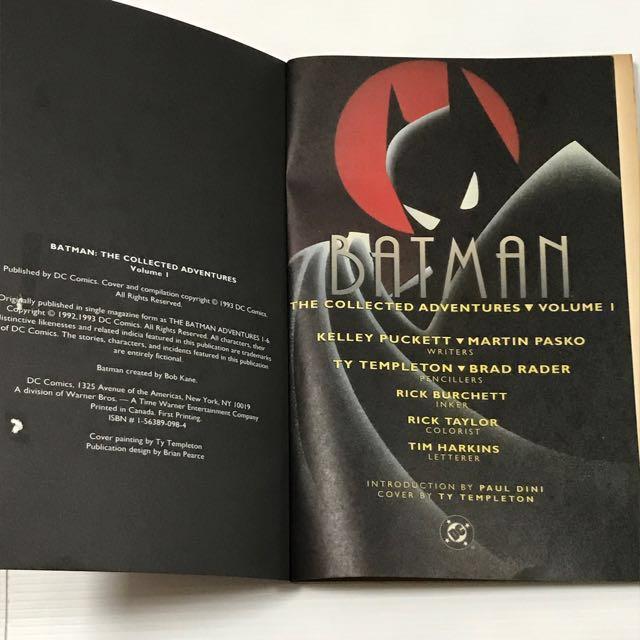 1993 DC Comics BATMAN The Collected Adventures Vol 1 (Free Mailing)