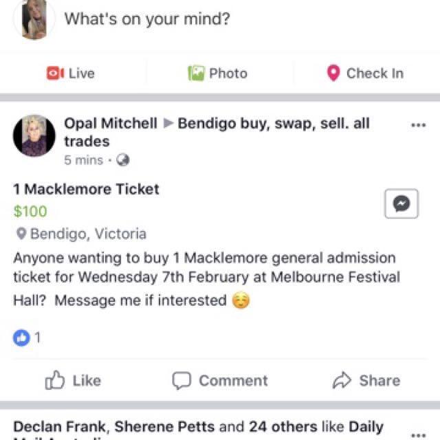 1 Macklemore ticket